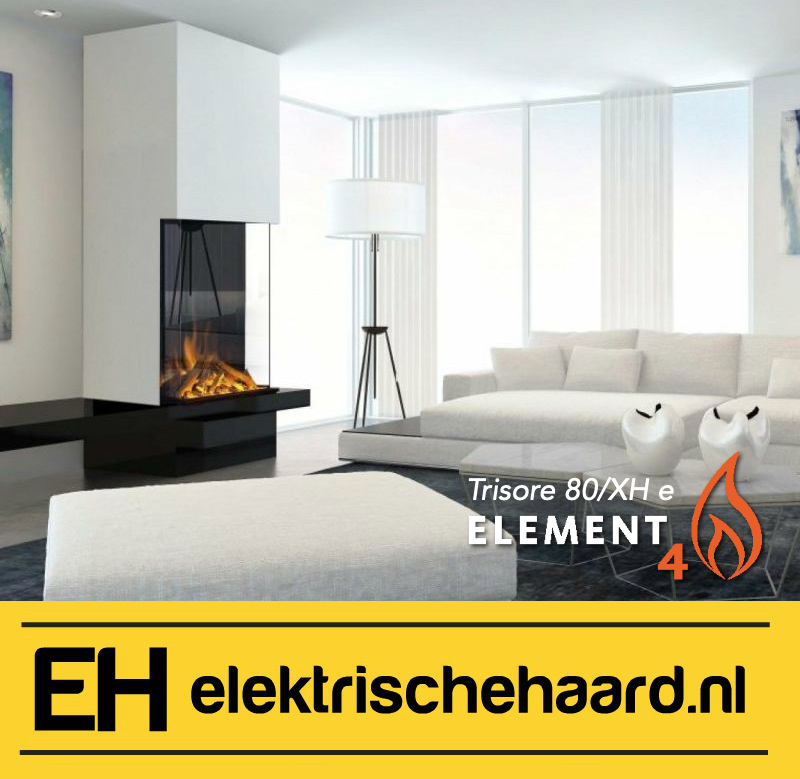 Element4 Trisore 80XH/e - Elektrische haard 3 zijdig met App bediening