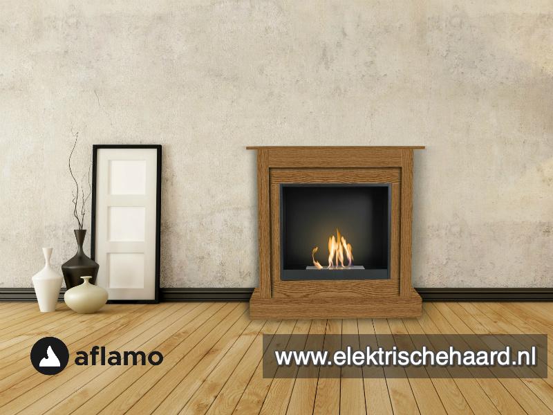 Aflamo Bodo Classic Eiken 90x90x30cm - Bio Ethanol haard