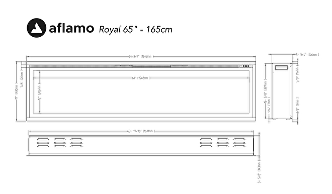 aflamo royal 164cm lijntekening