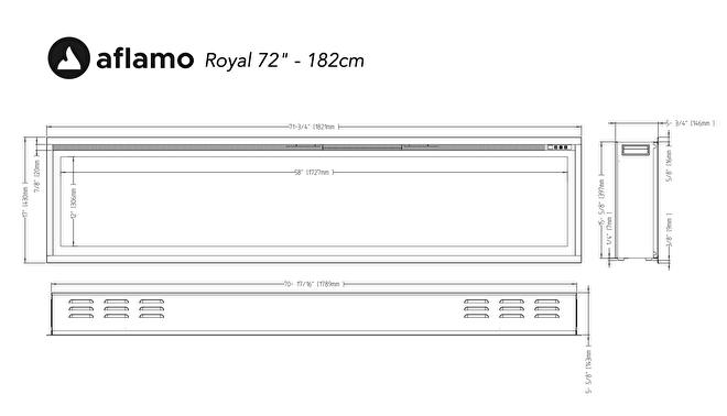 aflamo royal 182cm lijntekening