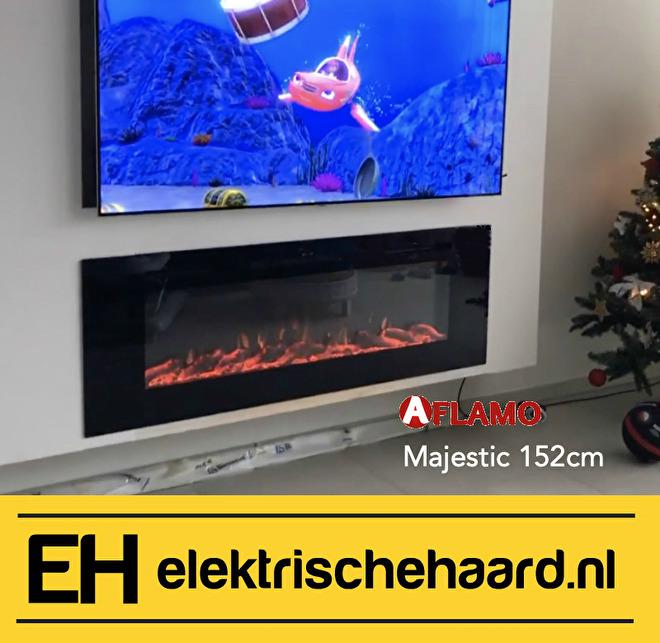 afbeelding tv wand met haard maken