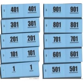 Nummerbloks (garderobe boekjes) 1-1000 overdoos