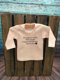Kinder trui met tekst