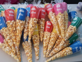 Puntzak popcorn met beker
