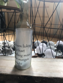 Fles met tekst