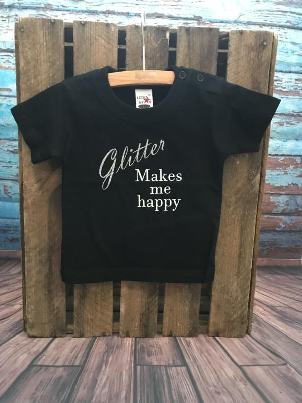 t shirt zwart glitter