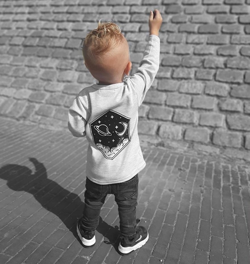 Grijs kinder shirt