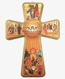 Icon Cross 34cm hout