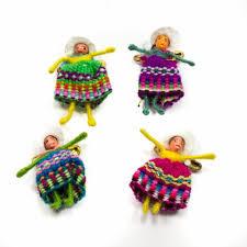Gelukspopje 3cm vrouw Peru 15stuks
