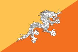 Flag BHUTAN ca.150x90cm polyester