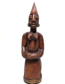 Beeld Ibeja vrouw, 38cm hout