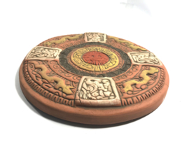 Aztec Kalender 23cm aardewerk