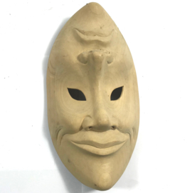 Happy - sad mask wood 26cm