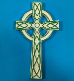 Porcelain celtic cross 18cm