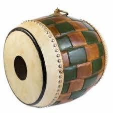 Trommel/drum hout 47x40cm