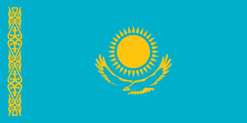 Flag KAZAKHSTAN ca.150x90cm polyester