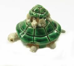 Schildpad met Kind Keramiek 8cm