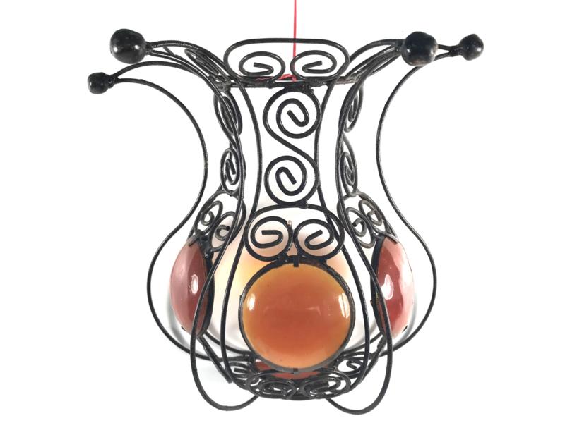Marokkaanse windlicht voor kaars of theelicht 26cm