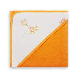Funnies Badcape Girafje Oranja Lime