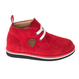 Bambini Curvy Rood Suede