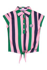 QUAPI Shortsleeve AMINE Multi Color Stripe