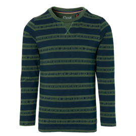 Quapi Longsleeve DAWID Dark Green Text Stripe