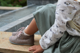 Bambini Tovenaar Grijs Ster Suede