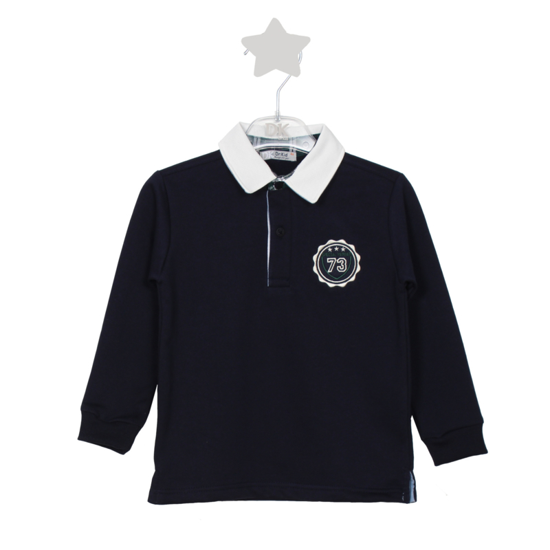 DK Poloshirt SCHOOL TIME Donkerblauw Kids