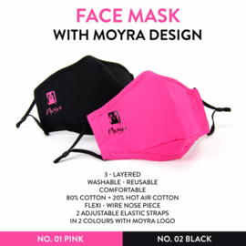 Face Mask  With Design no 1 Pink