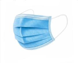 Facemask 50 stuks blauw