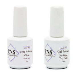 PNS Combi Deal Long & Strong Clear + No Wipe Topcoat