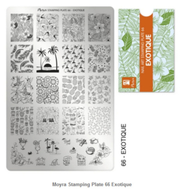 Moyra Stamping Plate 66 Exotique