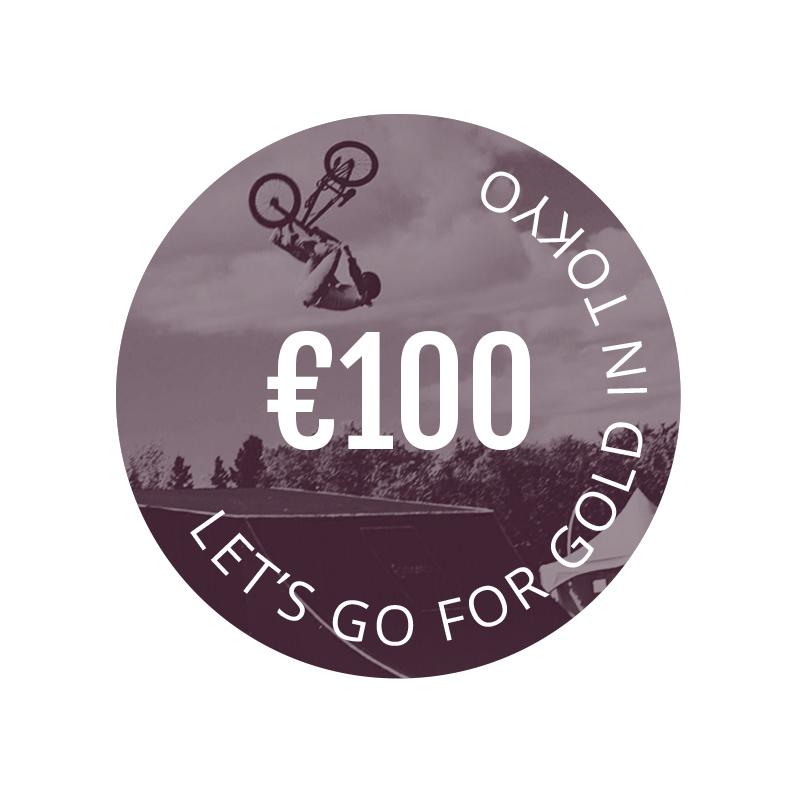 €100,- donatie
