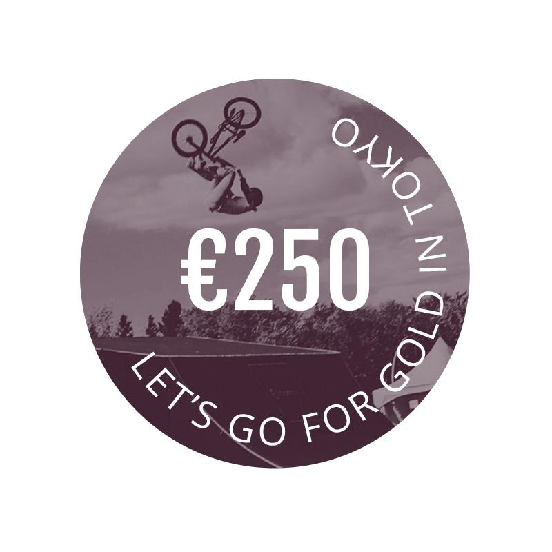 €250,- donatie