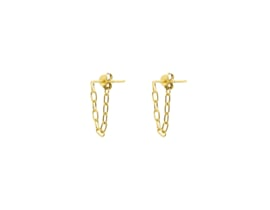 Hanging Chain Studs – Gold Plated