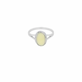 Oval Souvenir Ring Ivory - Sterling Silver