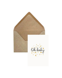 Elephant Grass Greeting Card - Oh Baby