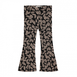 Flared legging leaves black
