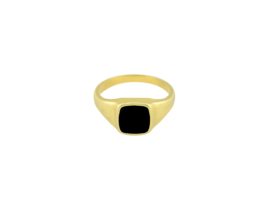 Black Dahlia Ring - Gold Plated
