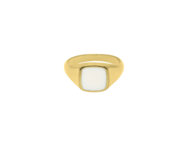 Ivory Dahlia Ring - Gold Plated
