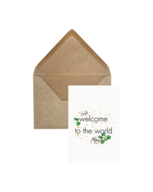 Elephant Grass Greeting Card- Welcome to the World