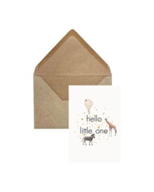 Elephant Grass Greeting Card- Hello Little One