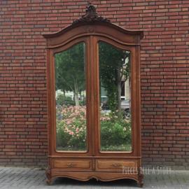 Fraaie antieke Louis IV spiegelkast (2.75 m hoog)