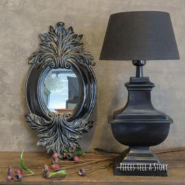 Prachtige luxe zwarte tafellamp
