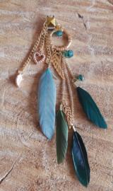 Decoratieve Fashionclip - The Golden Feathers