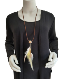 Decoratieve Fashionclip - The Ibiza  golden feather