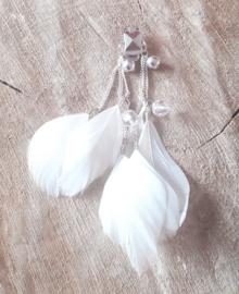 Decoratieve Fashionclip - The Little White Feathers