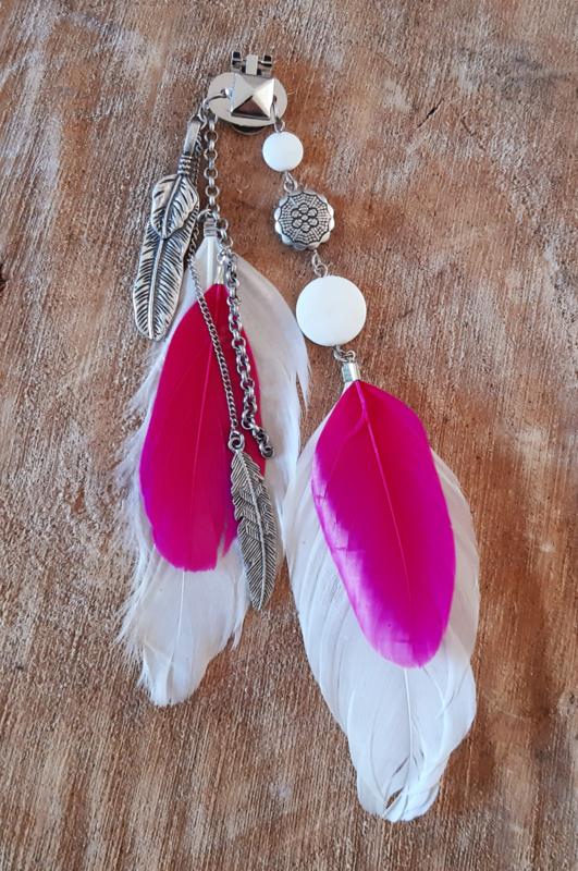Decoratieve Fashionclip - The Silver Feather