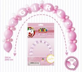 Ballon slinger Girl/meisje Roze