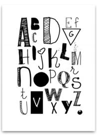 Poster ABC Zwart/Wit